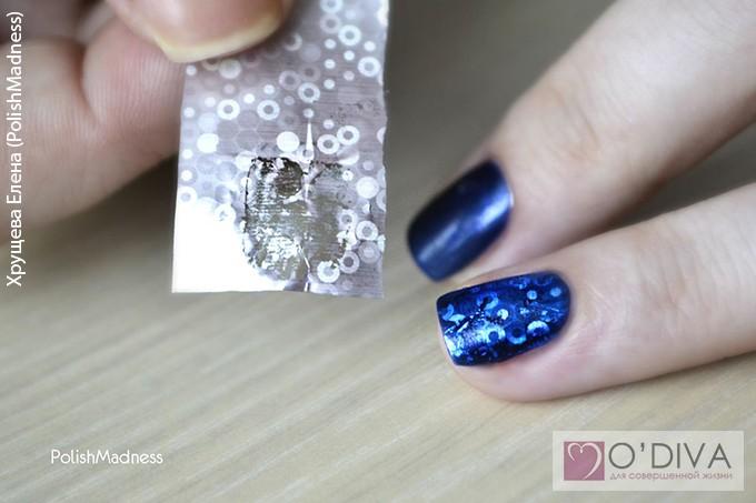 Как сделать маникюр с переводной фольгой - Meri30.ru