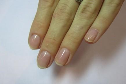 Ногти с прозрачным гелем фото
