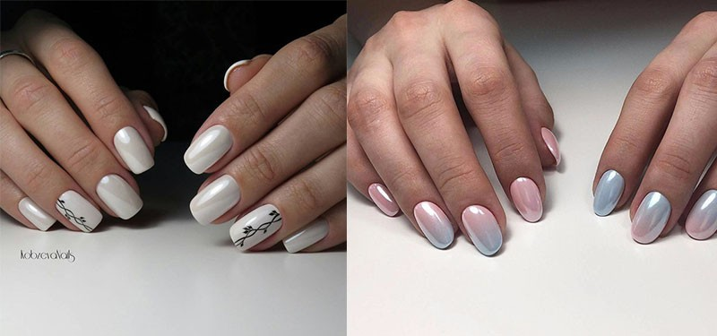 Как красить ногти гель лаком с втиркой