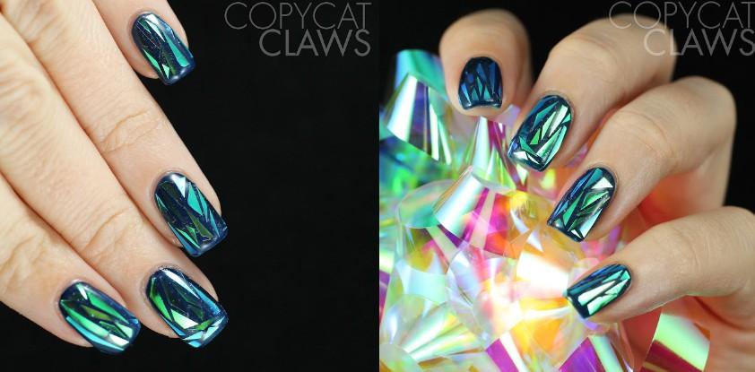 Битое стекло на ногтях как это сделать