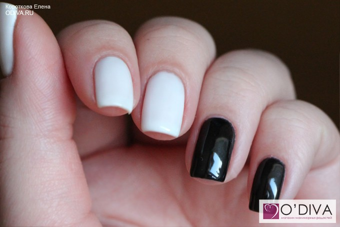 Bluesky shellac гель-лак Black White А21 и А41