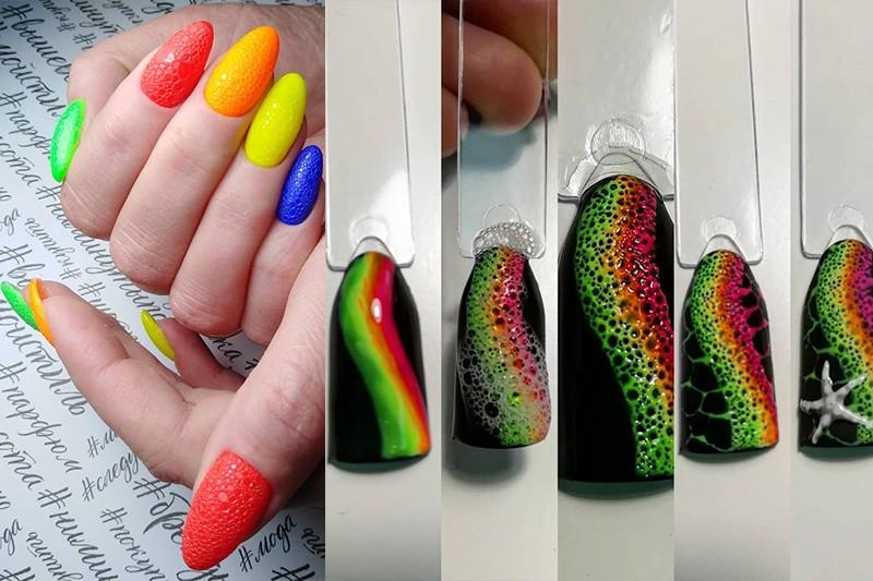 Тренд дизайна ногтей 2021-2020 - Bubbles Nails: как сделать пенный маникюр и что нужно для этого?