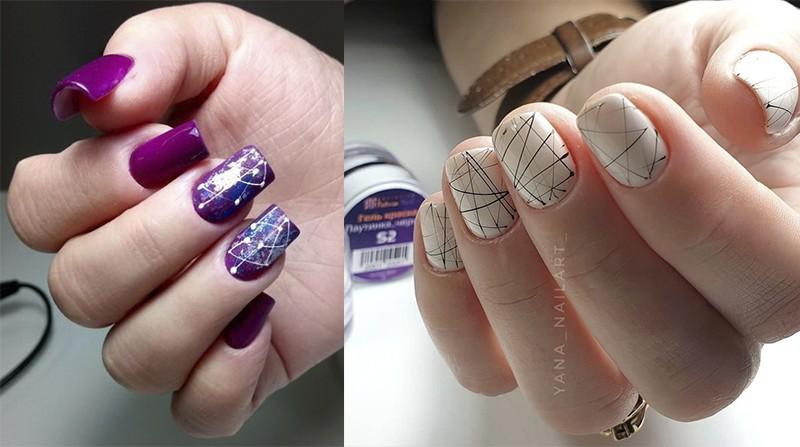 дизайн ногтей пастой Эластик