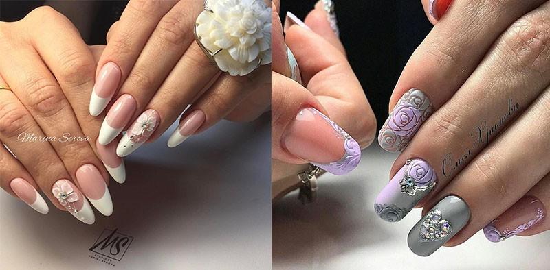 лепка, маникюр, дизайн ногтей