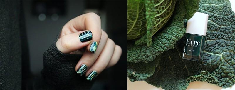 Модный маникюр весна лето 2017 насыщенный зеленый