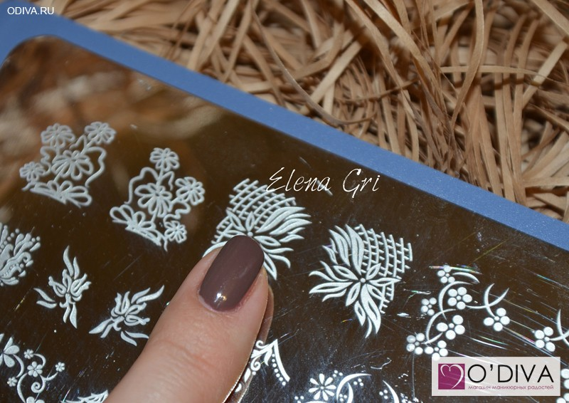 Пластина Oshine Beauty Stamping Nail Art XL Plate E