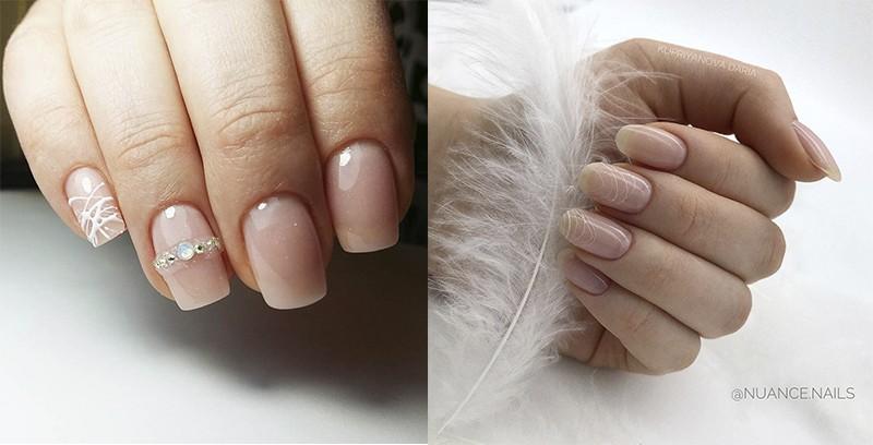 нежные ногти Паутинка
