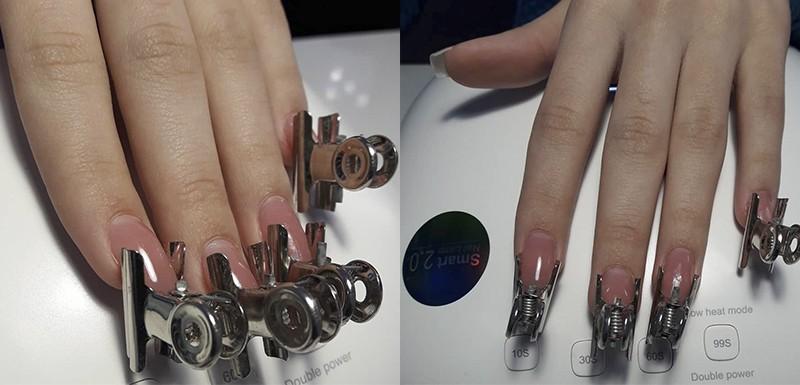 Фото как подгибать арку на ногтях