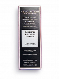 Revolution Skincare, 0.5% Retinol With Rosehip Seed Oil - сыворотка-масло 2 в 1
