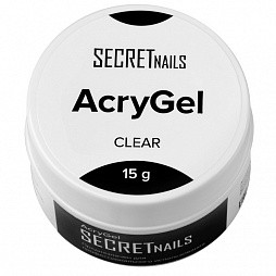 SECRETnails, AcryGel Clear - акригель (прозрачный), 15 гр