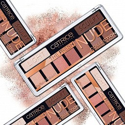 Catrice, The Fresh Nude Collection Eyeshadow Palette - тени для век 9 в 1 (нюдовые)