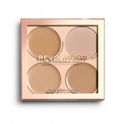 Makeup Revolution, Matte Base Concealer Kit - палетка: консилеры и фикс.пудра (C5-8)