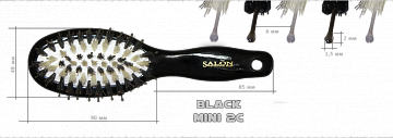 Salon Black MINI 2C - расчёска для волос