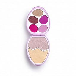 Makeup Revolution, I Heart Makeup Face & Shadow Palette - палетка д/макияжа (Candy Egg)