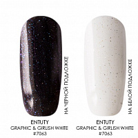 Entity One Color Couture, гель-лак (Graphic & Girlish White №7063), 15 мл