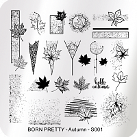 Born Pretty, пластина для стемпинга 6*6 см (BP-S001 Autumn)