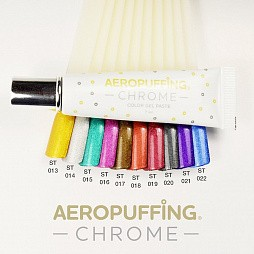 Aeropuffing, CHROME Gel Paste - гель-паста ST014 (Серебро), 7 мл