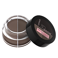Catrice, 3D Brow Two-Tone Pomade Waterproof - помада д/бровей (020 Medium To Dark корич/темн-корич)